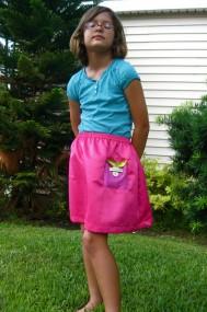 Allia pink glitter skirt