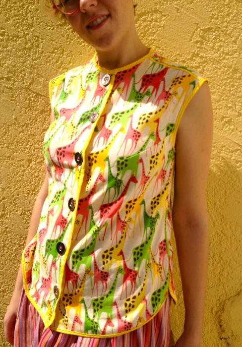 vintage giraffe blouse, made by Julianne